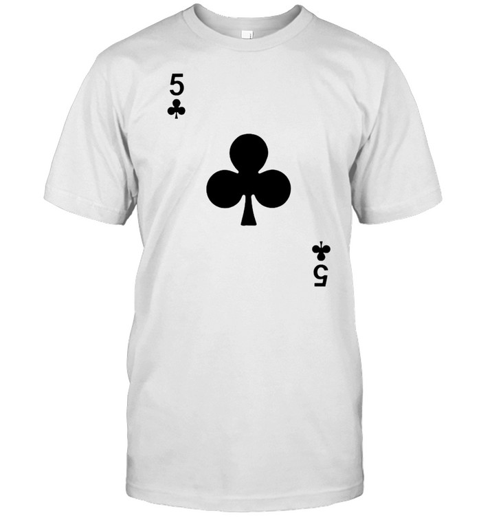 Five Of Clubs Blackjack Playing Cards Shirt