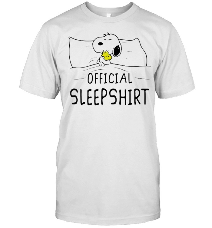 Official Sleep Snoopy Holding Woodstock Shirt