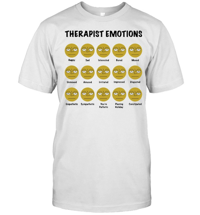 Social Worker Therapist Emotions Shirt