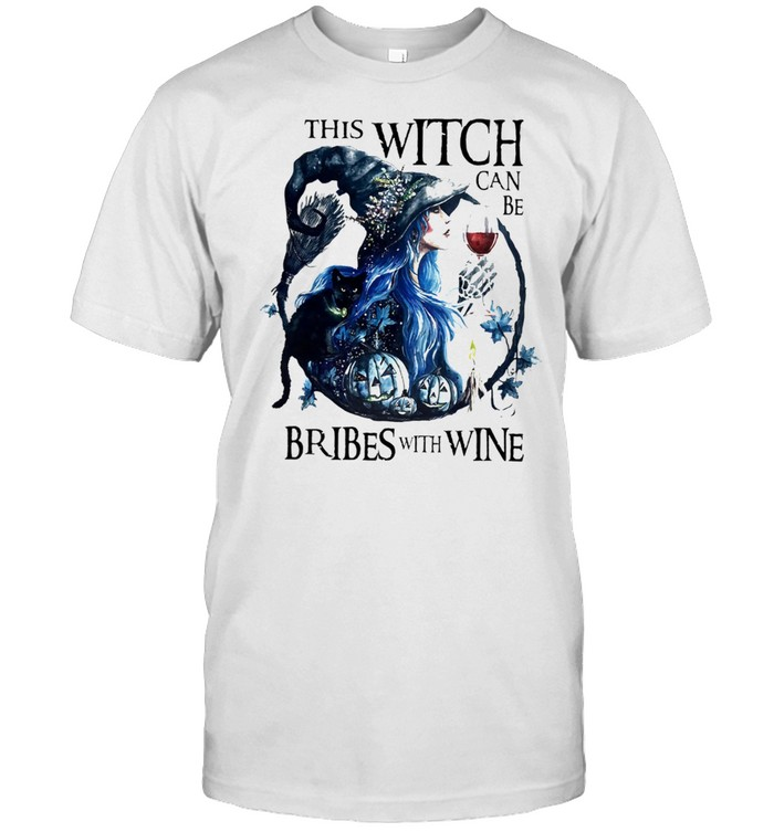 This Witch Can Be Bribed With Wine Halloween Shirt