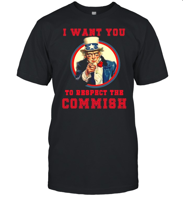 Uncle Sam Respect The Commish Fantasy Football Gear Shirt