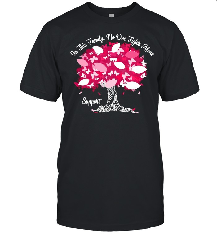 Breast Cancer Awareness In This Family No One Fight Alone Personalized Shirt