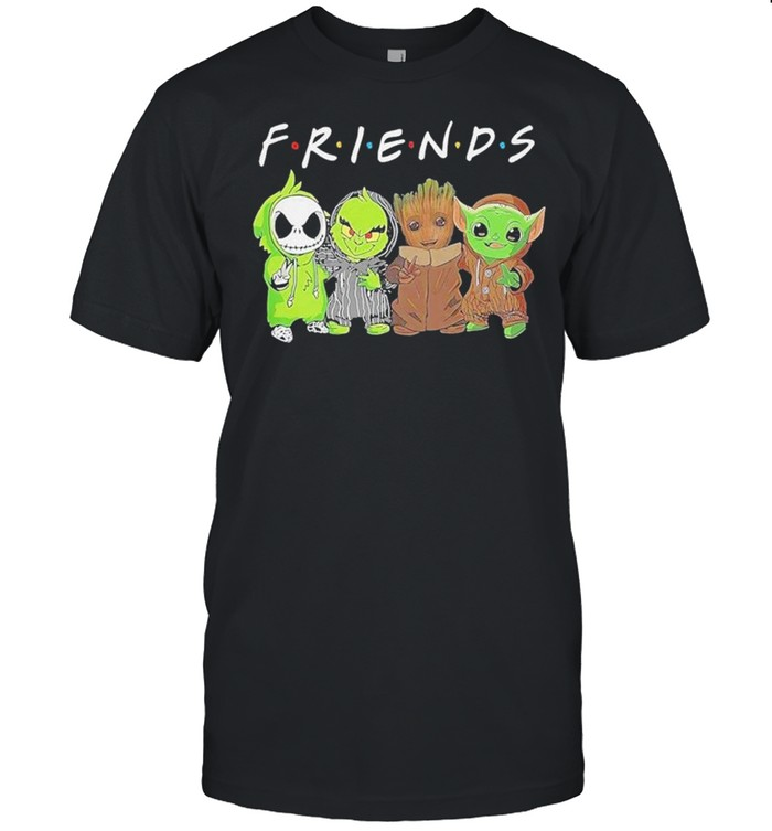 Baby Jack Skellington Baby Grinch Baby Groot And Baby Yoda Friends Shirt