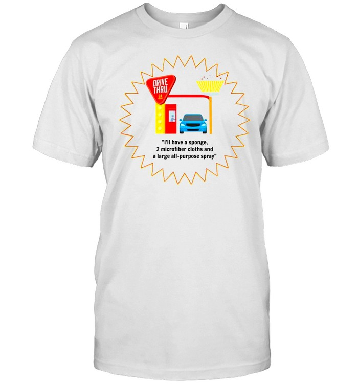Drivethru Cleaning Supplies Cleaning Lady Novelty Shirt
