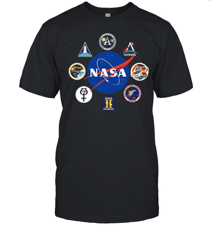 Space Nasa Logo Projects Gemini Crew Patch Mission Badges Shirt