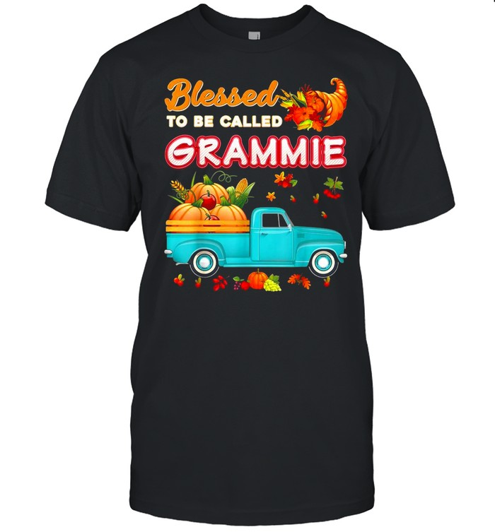 Blessed To Be Called Grammie Pumpkin Truck Fall Thanksgiving Shirt