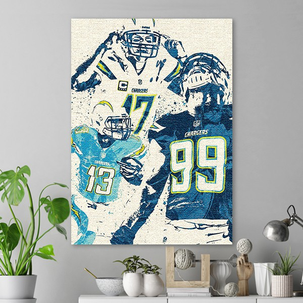 Los Angeles Chargers Team Poster