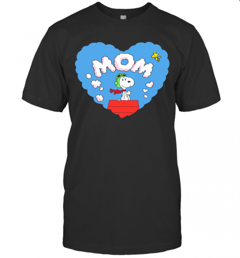 Flying Ace Snoopy Love You Mom Snoopy Mother's Day Shirt