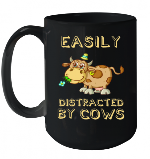 Easily Distracted By Cows Animals Mug